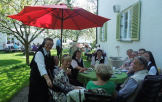 Perfekte Stimmung in KlosterCafe in Weichs